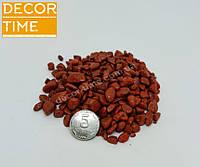 Гравий цветной (Оранжевый) декоративный для сада , окрашенная речная  галька (34567883)