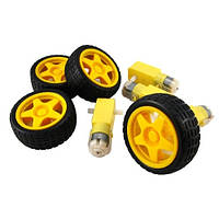 Мотор + колесо для робот. проекта, кита Arduino