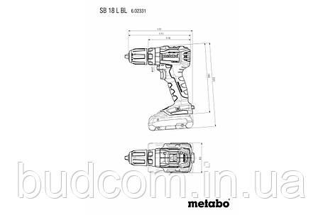 Аккумуляторный ударный шуруповерт Metabo SB 18 L BL Каркас+MetaLoc (602331840), фото 2