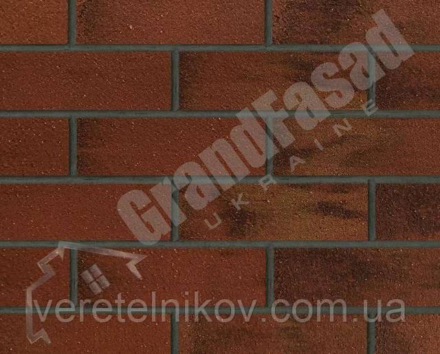 Гибкий кирпич клинкер гладкий «ELASTOCLIN» (Эластоклин) цвет №39 затирка графит