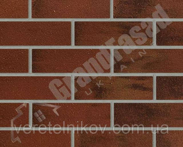Гибкий кирпич клинкер гладкий «ELASTOCLIN» (Эластоклин) цвет №39 серая затирка