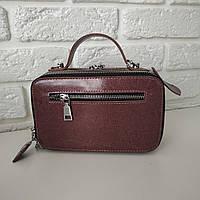 """Жіноча шкіряна сумка """"Феміда Dark Pink"""", фото 1"""