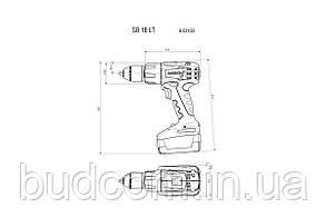 Аккумуляторный ударный шуруповерт Metabo SB 18 LT Compact 2*2.0 Ач (602103510), фото 3