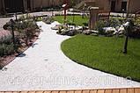 Гравій кольоровий (білий) декоративний для саду , пофарбована річкова галька (4566745345), фото 3