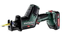 Акумуляторна шабельна пила Metabo SSE 18 LTX BL Compact 2*2.0 Ач (602366500)