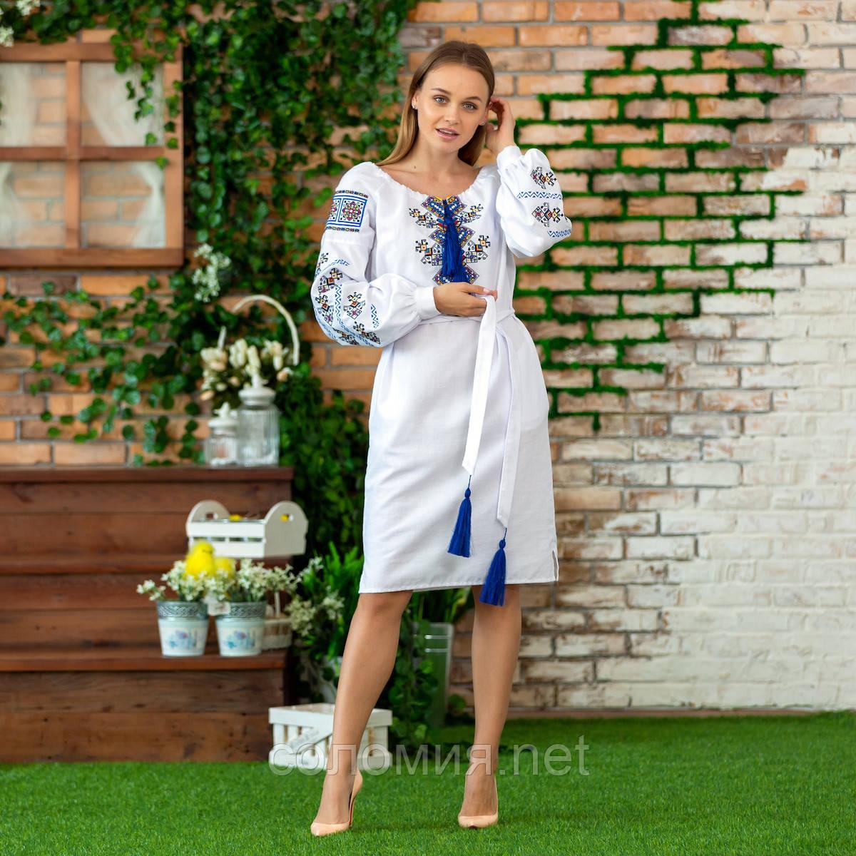 Очаровательное Вышитое женское платье. Вышиванка