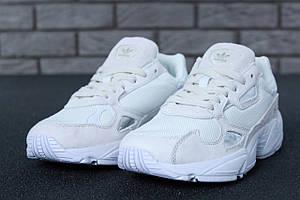 Женские кроссовки Adidas Falcon White \ Адидас Фалкон Белые \ Жіночі кросівки Адідас Фалкон