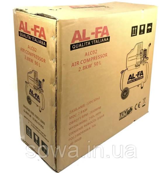 ✔️ Компрессор AL-FA ALC02  ( 50л )  2800Вт