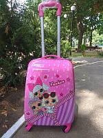 Дорожный чемодан на колесах Lol для девочки 43*30*23 см