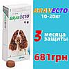 Таблетка Бравекто Braveсto від бліх та кліщів для собак від 10-20 кг 500мг 1 таб