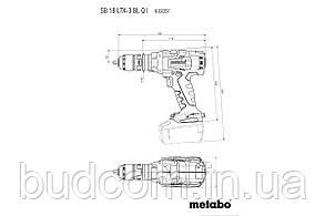 Аккумуляторный ударный шуруповерт Metabo SB 18 LTX-3 BL Q I Каркас MetaLoc (602357840), фото 3