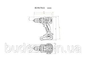 Аккумуляторный шуруповерт Metabo BS 18 LT BL Quick (602334550), фото 2