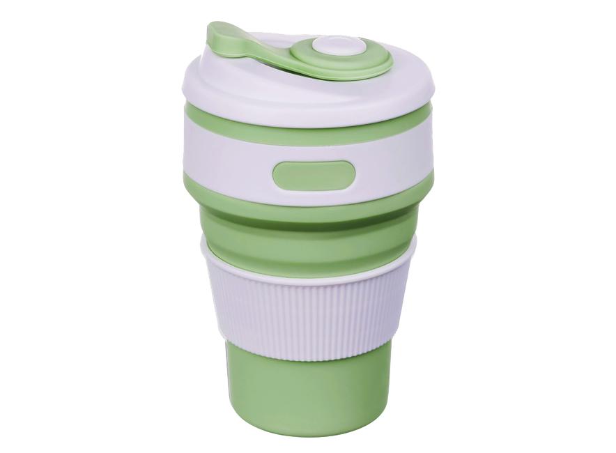 Складная силиконовая чашка Collapsible 350 мл (зеленый)