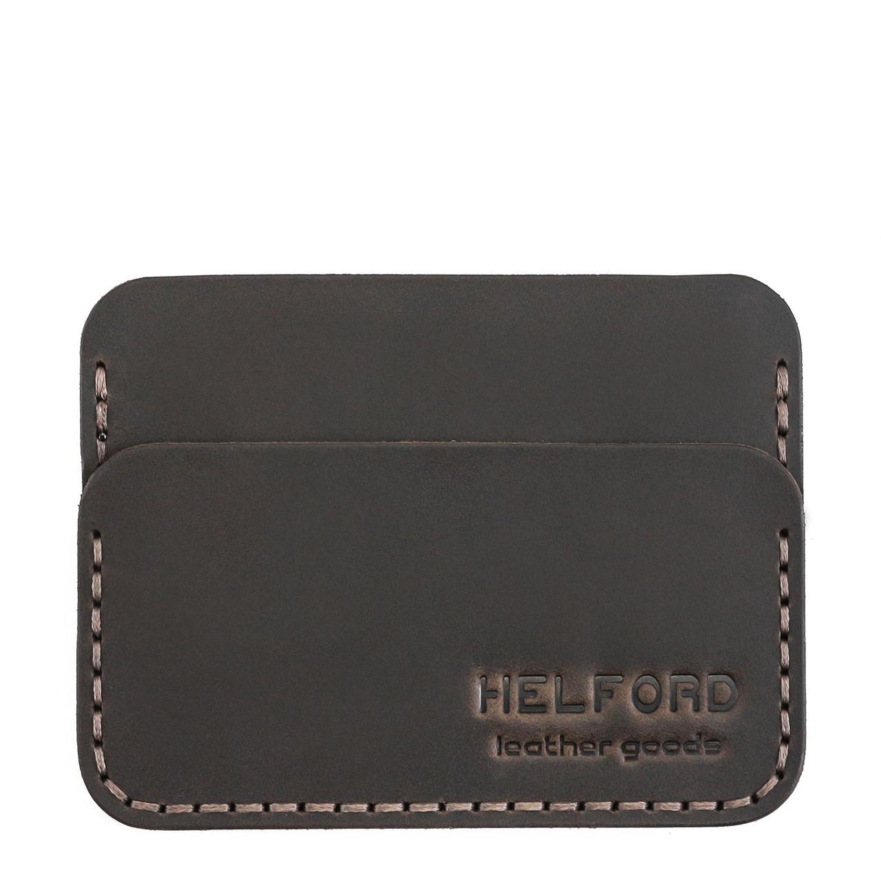 Картхолдер кожаный ручной работы HELFORD Кроул brn (roz-1134123434)