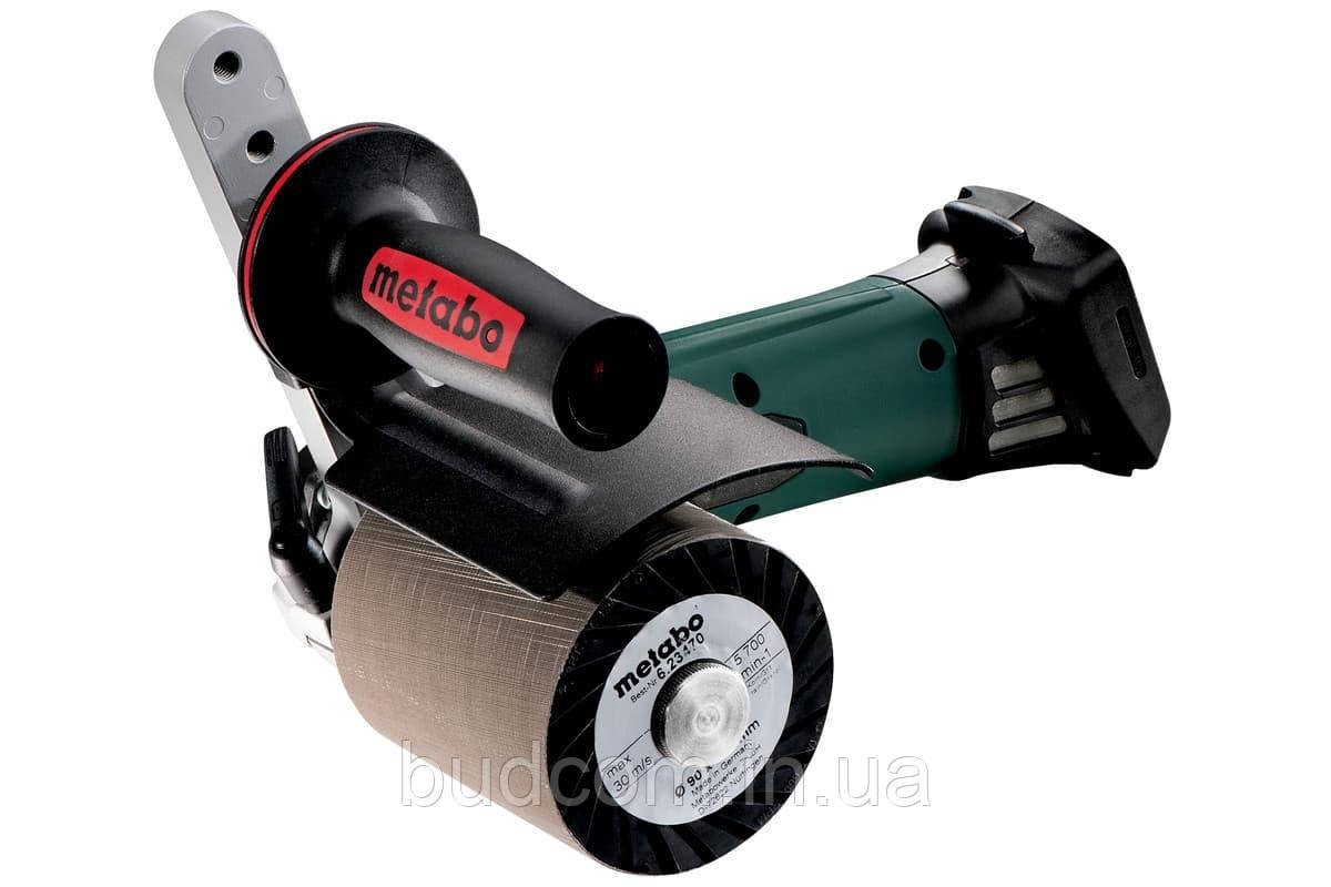 Аккумуляторная щеточная шлифовальная машина Metabo S 18 LTX 115 Inox Каркас (600154850)