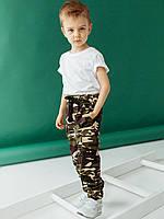 Брюки на мальчика, штаны детские карго камуфляж, фото 1