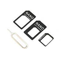 Micro Sim Nano Sim адаптер перехідник 3в1 2001-01885