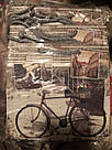 Подарочный бумажный крафтовый пакет ЧАШКА 16*16*8 см Вело, фото 3