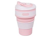 Складная силиконовая чашка Collapsible 350 мл (розовый), фото 1