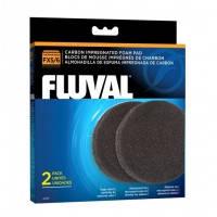 Hagen Fluval Carbon Impregnated Foam Pads угольная губка для фильтров Fluval FX5 и FX6, 2шт