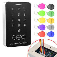 Система контроля доступа СКД панель RFID РЧИД + клавиатура + 10 брелков