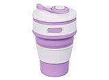 Складная силиконовая чашка Collapsible 350 мл (серый), фото 5