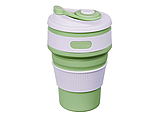 Складная силиконовая чашка Collapsible 350 мл (серый), фото 7