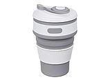 Складная силиконовая чашка Collapsible 350 мл (серый), фото 6