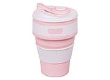 Складная силиконовая чашка Collapsible 350 мл (серый), фото 9