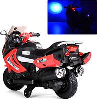 Детский электромобиль мотоцикл БМВ на аккумуляторе M 3625EL-3  красный, свет, звук, електромобиль