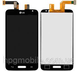 Дисплей для LG Optimus L70 D320, D321, MS323, модуль в сборе (экран и сенсор), черный, оригинал