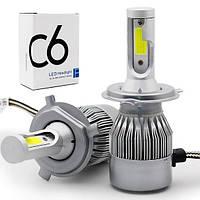 Светодиодные лампы Led C6 H4 (ближний/дальний), фото 1