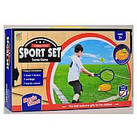 Игра MR 0143 (24шт) теннис, ракетка 1шт 37см, мяч, платформа, в кор-ке,39-23-7,5см
