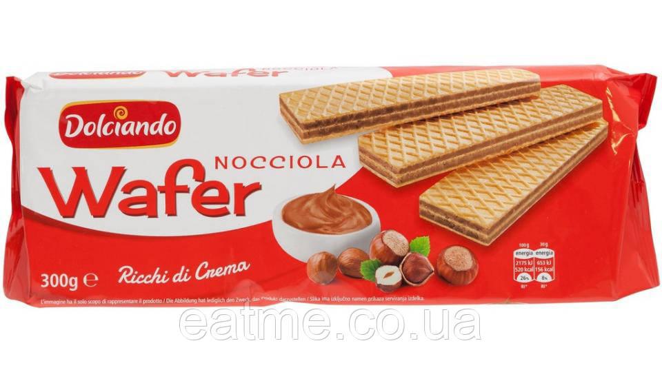 Dolciando Wafer Итальянские вафли с шоколадно-ореховой начинкой. Без пальмового масла!