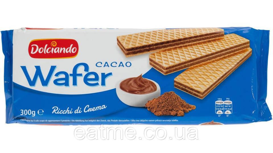 Dolciando Wafer Итальянские вафли с шоколадной  начинкой. Без пальмового масла!