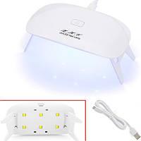 УФ-лампа для сушки, наращивания гелевых ногтей LKE 12Вт LED+UV USB