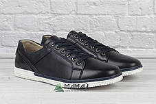Шкіряні чоловічі кросівки з білою підошвою 43р, фото 3