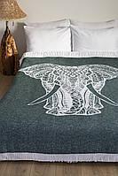 Плед-покрывало Lotus Zeus Elephant зеленый 140*200