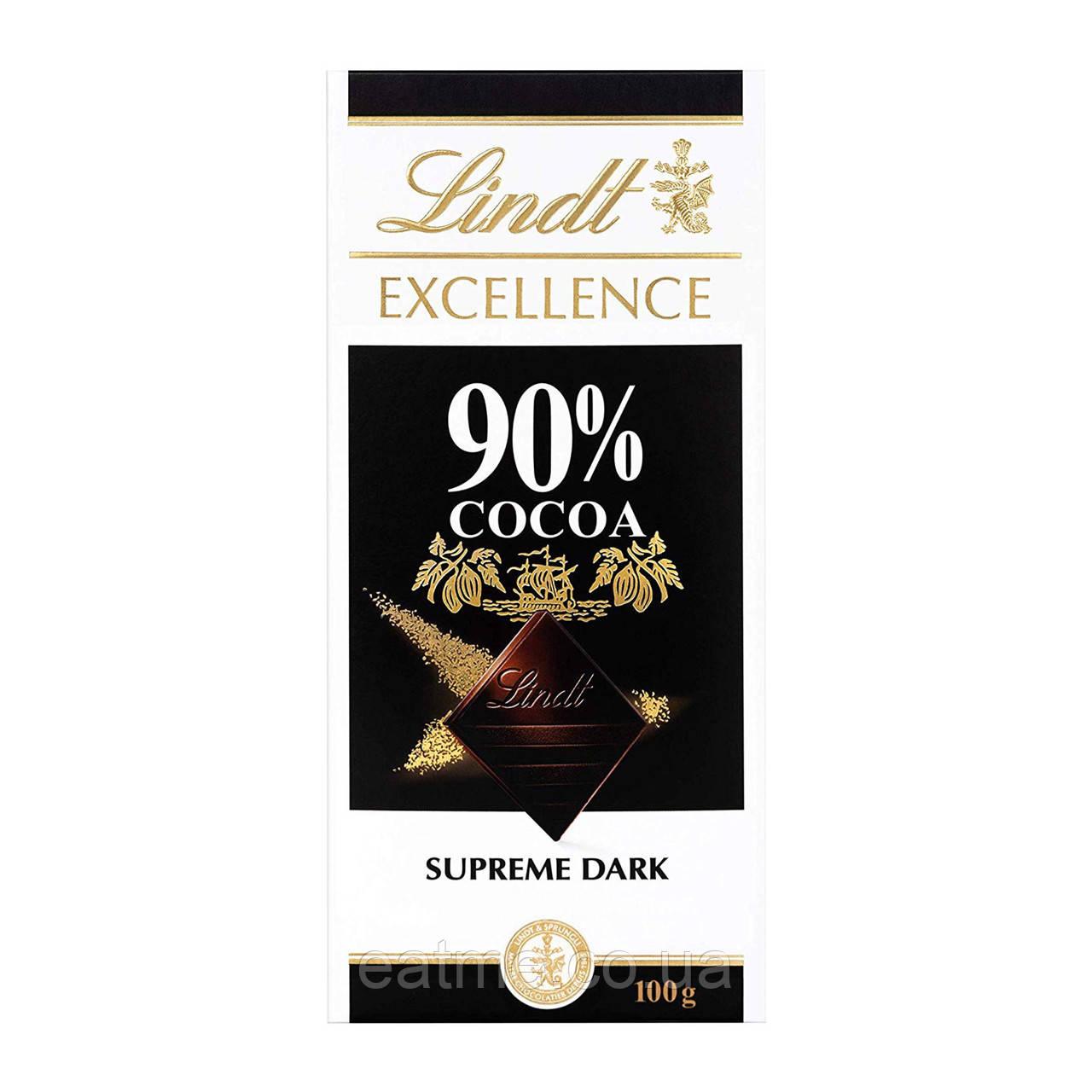 Lindt 90% какао Чёрный Швейцарский шоколад