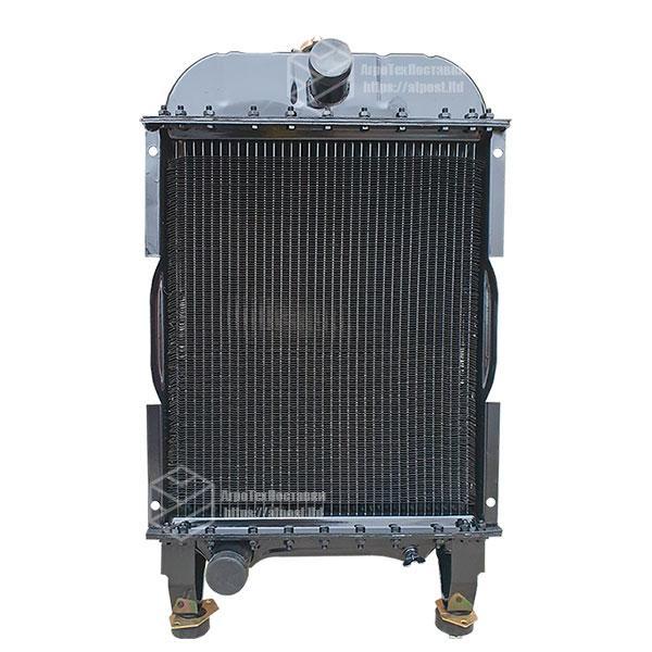 Радиатор водяной МТЗ-80 (медн) (4-х рядный) + крышка + аморт. х 2 шт (метал бачки) МТЗ-1221