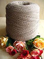 """Итальянская бобинная пряжа от New Mill art Magreb """"Мулине"""" 80% Меринос, 20% РА  750м /100 гр. Беж"""