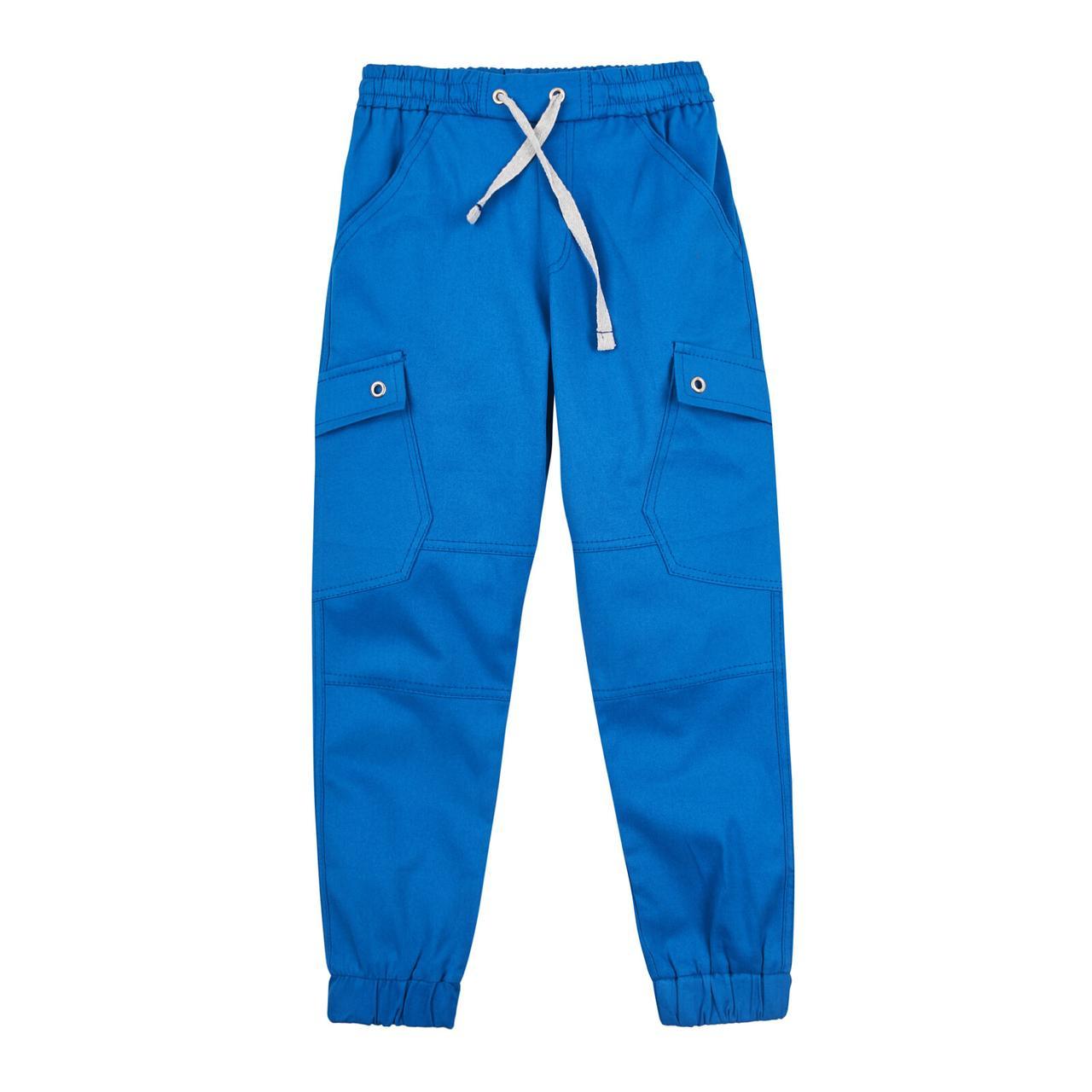 Брюки джоггеры для мальчика на резинке синие