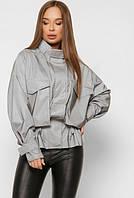 Женская тонкая куртка ветровка цвета металик