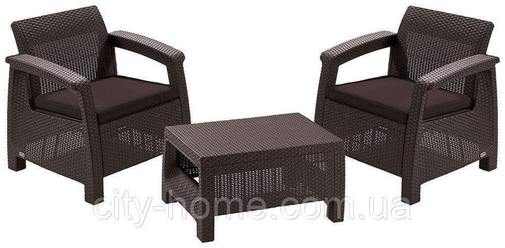 Комплект садовой мебели Bahamas Weekend коричневый