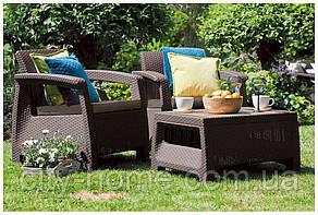 Комплект садових меблів Bahamas Weekend коричневий, фото 2