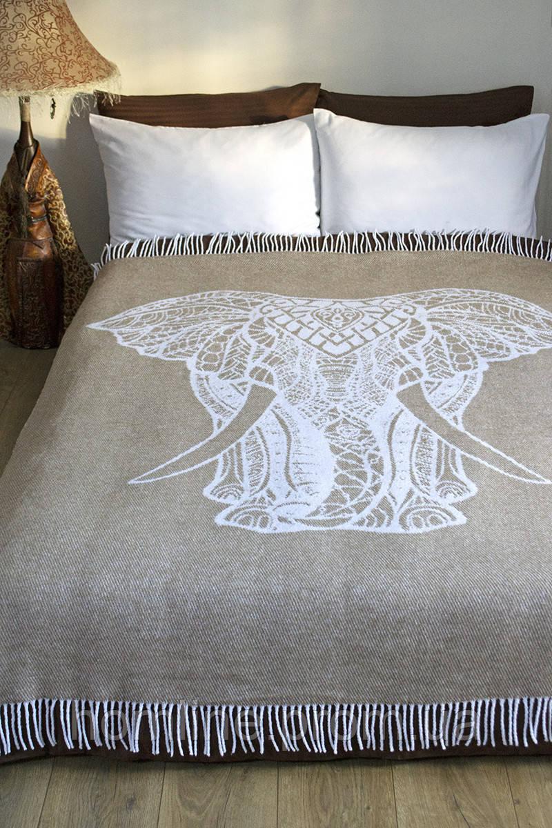 Плед-покривало Lotus Zeus Elephant темно-бежевий 140*200