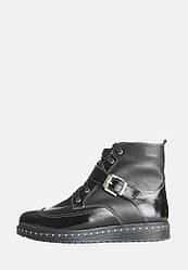 VM-Villomi Модные кожаные ботинки с лаковыми вставками для зимнего периода