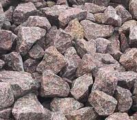 Бутовый гранитный камень цвет розовый фр 100-450 мм - выборка, фото 1
