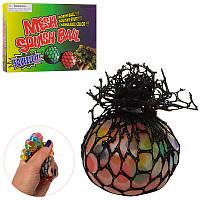 Игрушка MS 0416-5, антистресс,5 см,виноград,многоцветный орбиз, 24шт в дисплее
