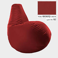 Кресло мешок груша Оксфорд Стандарт 65*85 см Цвет Красный